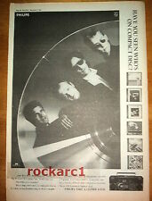 LEVEL 42 Phillips 1986 UK Poster size Press ADVERT 16x12 inches