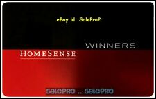 HOMESENSE WINNERS MARSHALLS USA RED & BLACK #600176 RARE COLLECTIBLE GIFT CARD
