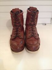 Vintage MENS IRISH SETTER BY RED WING WORK LEATHER BRICK RED BOOTS SIZE 11