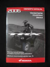 Honda 2006 TRX350 TRX 350 TM FM 4X4  Original Owners Manual