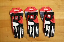 WILSON RACQUETBALL GLOVE RED ZONE, RED/ BLACK/ WHITE RIGHT HAND SMALL S 3 Gloves