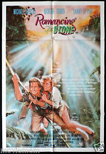 ROMANCING THE STONE Rare ONE SHEET Movie poster Michael Douglas Kathleen Turner