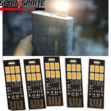 5x Soshine USB Power 6-LED Night Lamp 1W 5V Touch Dimmer Warm/White Light Hot