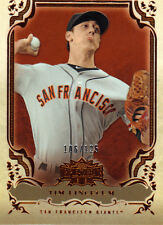 "2013  TOPPS    ""TRIPLE THREADS""  AMBER  # 54  TIM LINCECUM  106/125"