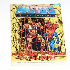 Vintage MOTU Masters of the Universe He-Man Mini Comic Mantenna Evil used /H48