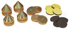 Set of 4 Loudspeaker Spikes - Solid Brass - threaded for fine adjustment
