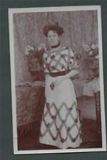 C W Varley. Raunds vintage lady fashion  Northamptonshire Postcard    za.91