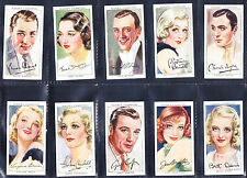 PLAYERS overseas issue FILM STARS third series 50  - poor cond cat£80 in sleeves