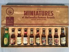 Vintage Beer Miniatures 10 Bottles Famous Brands