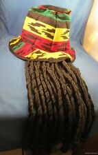 RASTA DREADLOCK DREADS HAT Dread lock TOPHAT Rastafarian Reggae Ska pony tail