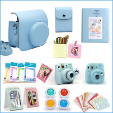 Gmatrix 17 in 1 Fujifilm Instax Mini 8 Case Bag Accessory Bundle Best Gift Blue