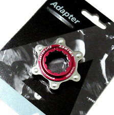 gobike88 ASHIMA Ultra Light Center Lock Adapter For Disc Rotor, Red, R65
