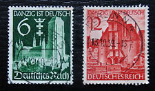 Deutsches Reich 714-715 , Wiedereingliederung Danzig , TOP Vollstempel