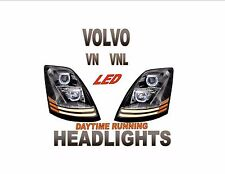 VOLVO VNL  PROJECTOR HEADLIGHT SET DAYLIGHT RUNNING LIGHT LED  - NEW!