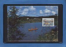 ALAND CARTOLINA PRO TURISMO CON FRANCOBOLLO 1991 TEMATICA CANOA  COD.206