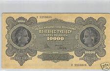 POLOGNE 10 000 MAREK 11.3.1922 N° I 2259608 PICK 32