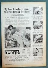 Original 1950 Ironite Ad Photo Endorsed by Mrs. Lyle Shaw of Muskegon Michigan