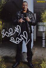 FARID BANG - Autogrammkarte - Autogramm Fan Sammlung Clippings