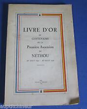 Livre d'or du Centenaire de la Première Ascension du Néthou (1842) ex num rare
