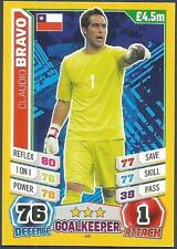 TOPPS MATCH ATTAX  BRAZIL 2014 WORLD CUP- #048-CHILE-CLAUDIO BRAVO