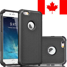 HARD + SOFT RUBBER SHOCKPROOF CASE COVER SHIELD FOR APPLE IPHONE 7 (BLACK)
