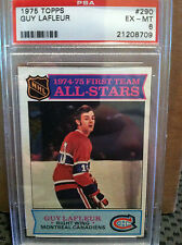 1975 Topps # 290 GUY LAFLEUR PSA **** 3 CARD LOT .... CANADIENS ****RH-5293