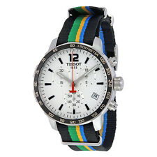 Tissot Quickster White Dial Striped Nylon Mens Watch T0954171703702