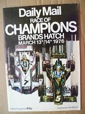 Daily Mail Race of Champions Brands Hatch Official Programme 13 & 14 March 1976
