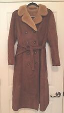 Vtg  SAWYER'S of NAPA~ Deerskin Trading Post Shearling Coat Sz 12 (fits small)