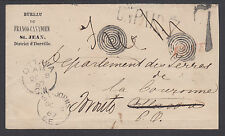 "Canada, 1867 Forwarded ""Free"" Stampless Unpaid Cover, VF"