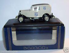 RARE ELIGOR FORD V8 1962 DELIVERY SEDAN PHILIPS GRIS CLAIR 1/43 REF 1217 IN BOX