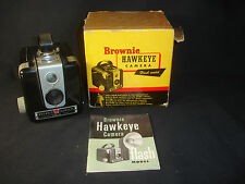 Old Vtg Collectible Kodak Brownie Hawkeye Camera Flash Model W/ Box Paperwork