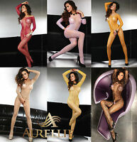 Sexy Long Sleeved Bodystocking Abra Colours Variation S/L XXXL By LivCo Lingerie