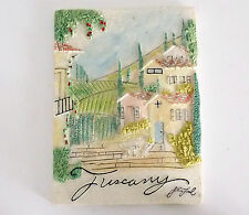 STEVE LEAL CERAMIC RELIEF OF TUSCANY SCENE SIGNED BY ARTIST