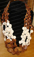 4030119 - Cream & Black Multi Necklace & Braclet (Global & Vine, Culture Club)