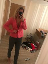 Size 10 Miss Pap Bright Pink Button Up Blazer Jacket Classy BNWT Chic Summer