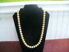 """Vintage Monet Goldtone Metal Filagree Bead 25"""" Necklace"""