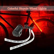 24X LED Lamps Bicycle Front Rear Fork Light Colorful Cycling Wheel Lights Q8N3