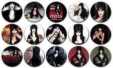 "ELVIRA - Lot of 15 Pin Back 1"" Buttons Badges (One Inch) – Set"