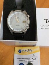 Tavistock & Jones Solar World Time Radio Controlled Watch. Water resistant 5atm