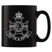 The Sherwood Foresters (Nottinghamshire and Derbyshire Regiment) Black Satin Mug
