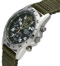 SEIKO S Men's Watch Auth ND377 SND377R Chronograph 100m Green military army JP