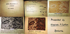 1958 UNIQUE BATIK EXAMPLES DJAKARTA INDONESIA COLLECTED BY MORMON EDUCATOR