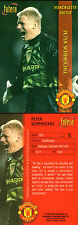 FUTERA 1998 MANCHESTER UNITED PETER SCHMEICHEL CARD NUMBER 5