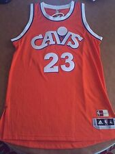 LeBron James Authentic Jersey Cleveland Cavaliers Orange Hardwood Classic