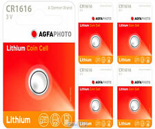 5 x AGFA CR1616 3V Lithium Button Battery Coin Cell DL1616 for Car Key Fobs