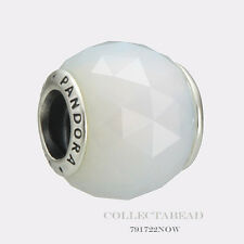 Authentic Pandora Silver Geometric Facets Opalescent White Bead 791722NOW