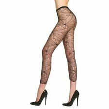 BEAUTIFUL SPIDERWEB LACE TIGHTS FOOTLESS GOTH BURLESQUE WEB CYBER SPOOKY VAMPIRE