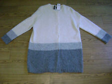 Marc Cain cardigan.RRP £295.Alpaca,wool blend.Size N5 or 16 to 18.Grey,cream