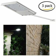 Solar Power Dusk-to-Dawn Sensor Waterproof Security Spot LED Flood Light 3 Pack